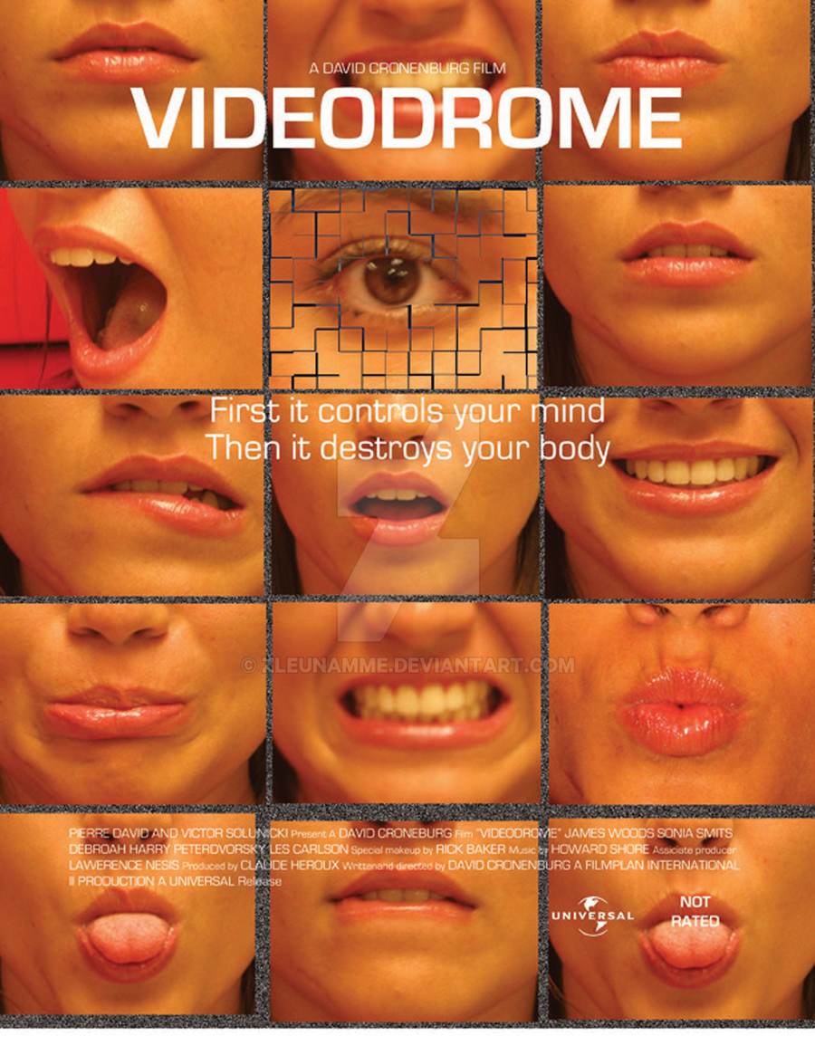 Videodrome movie poster by Zleunamme