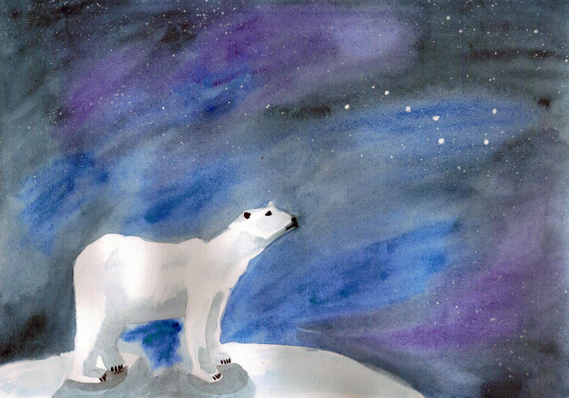 32 white big bear by NataSemachka