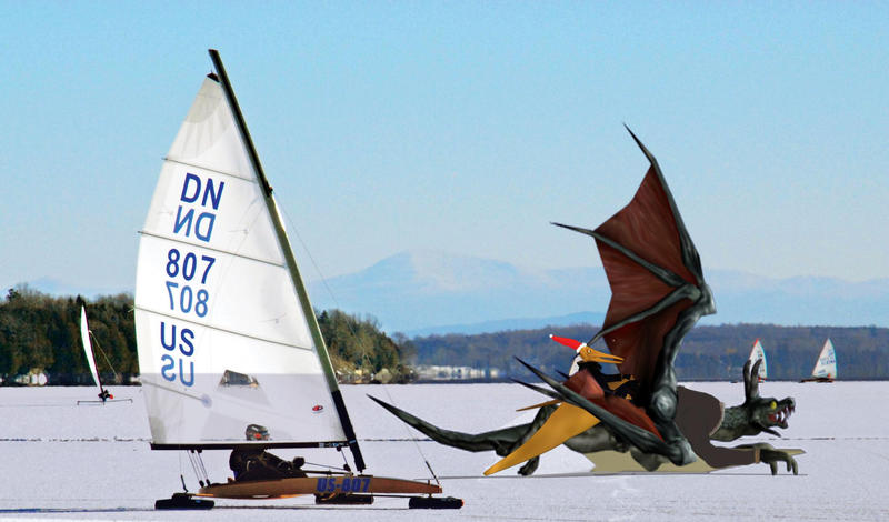 Ice Boat Dragon by synersignart