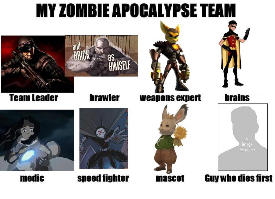 My Zombie Apocalypse Team by Moschonn