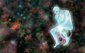 Dr Manhattan, Galactic Thinker by forstarvingeyes