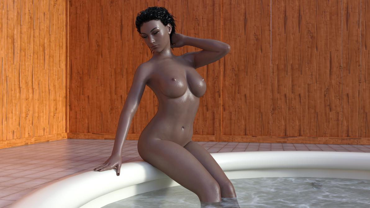 Bathtime : Amy by ToxicCity3DX