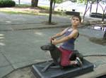 Little Boy Riding 2
