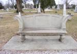 Cemetary Stone Bench 0309 2