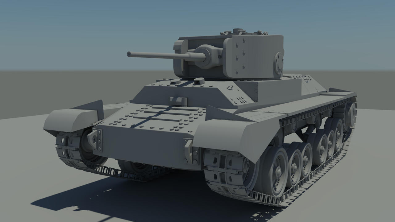 Valentine mk iii tank d model by barnabygk on deviantart