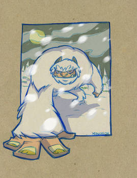 YETI SKETCH COLORED