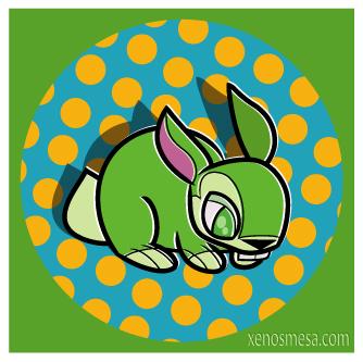 green bunny circle by 231705