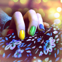 Rubik's Cube Nails by MelpomenesMask