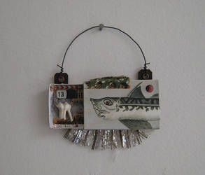 Tiny assemblage: Fishy Toothy by bugatha1