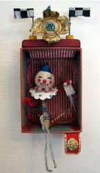 Assemblage: Vintage Clown by bugatha1