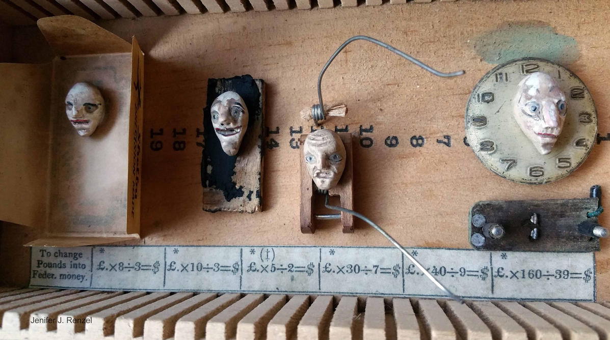 Assemblage: Faces by bugatha1