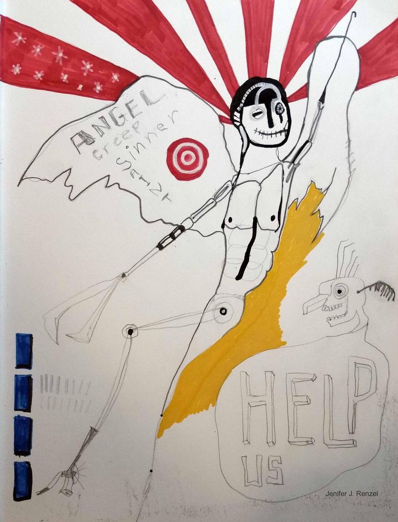 Sketch: Help Us by bugatha1
