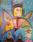 Outsider art Painting: The Color Out of Space