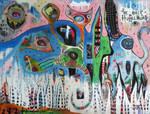 Outsider Art Painting: The Huffelmump
