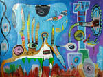 Outsider Art Painting: The Gorp