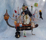 Outsider art assemblage: Halloween Buggy