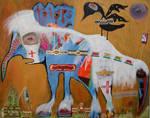Outsider Art Painting: Push Me, Pull Me