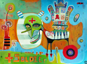 Outsider Art: Color Horse by bugatha1