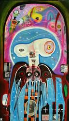 Outsider art: Astral Ferret by bugatha1