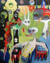 Outsider art: Bird'ophany by bugatha1