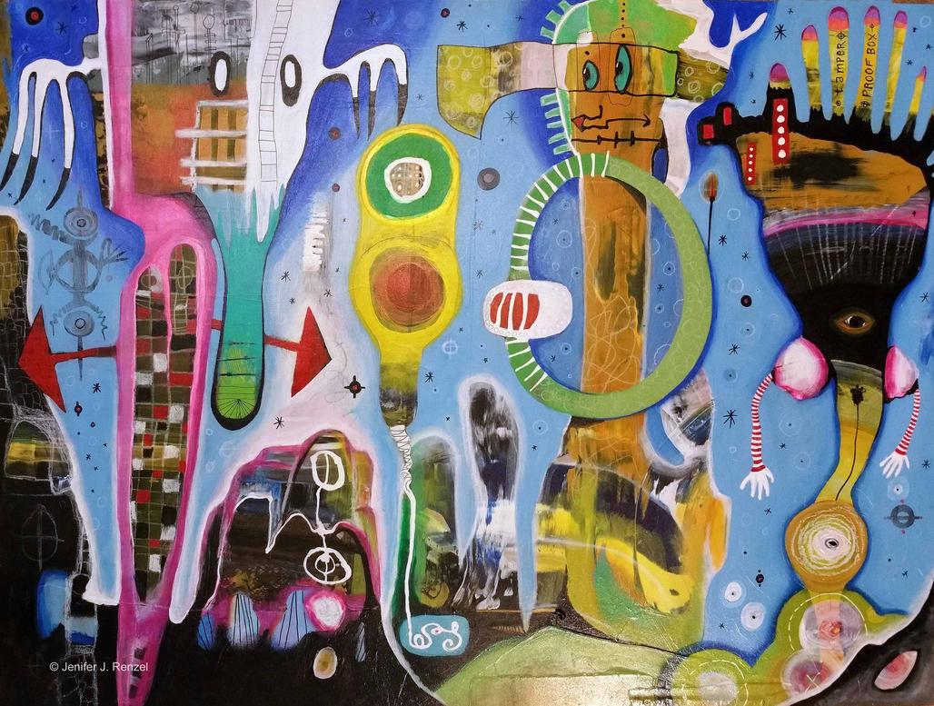 Outsider Art: Crowded Landscape by bugatha1
