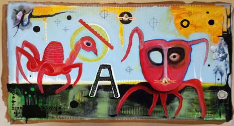 Outsider Art: Lovecraft World by bugatha1