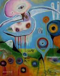Outsider art: Shrooma by bugatha1