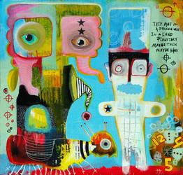 Outsider art: Strangers meet by bugatha1