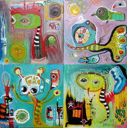 Outsider Art: Four small ones