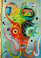 Outsider Art: Squawktopus by bugatha1