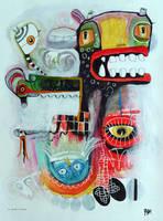 Outsider Art: Pinwheel Head by bugatha1