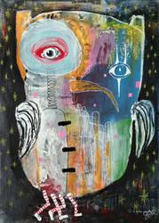 Outsider Art: Owlie by bugatha1