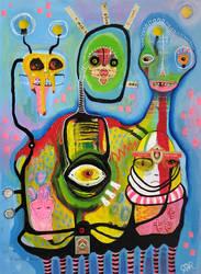 Outsider Art: Colony Man by bugatha1
