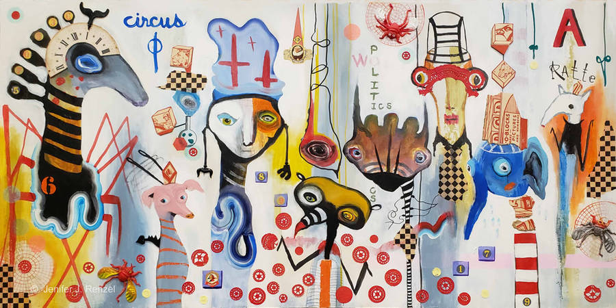 Outsider Art: Modern Circus by bugatha1