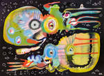 Outsider Art: Two Cephalopods in the NIght