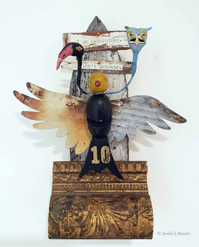 Assemblage: Bird Reliquary