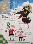Outsider art: Tweedle Dee and Dum