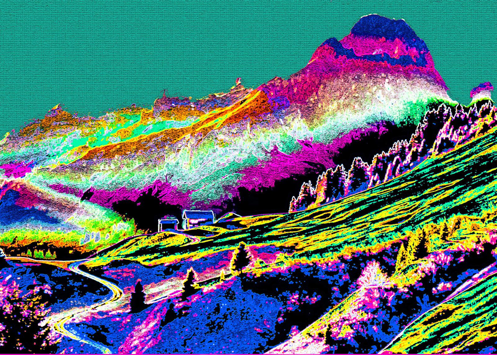Psychedelic Landscape | www.pixshark.com - Images ...