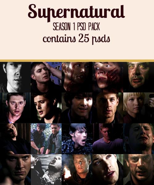 Supernatural Season 1 Psd Pack by winchestaurs on DeviantArt