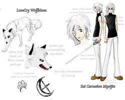LoneCry and Rei Ref Sheet by Myoijin