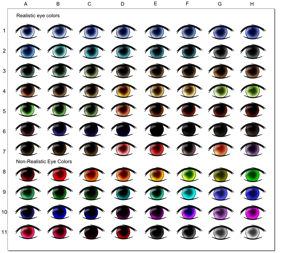 Eye Color Chart by Myoijin on DeviantArt