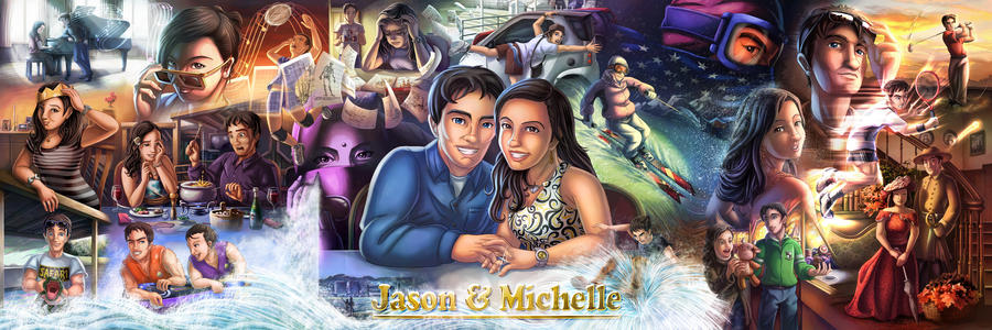 Jason and Michelle by glitcher
