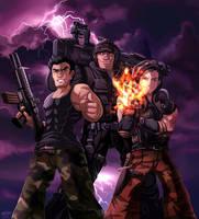 COMM: Three Badasses by glitcher