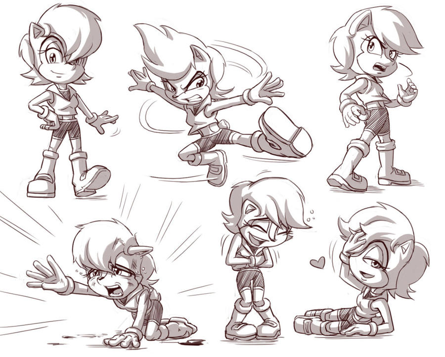 Princess Sally sketches by glitcher