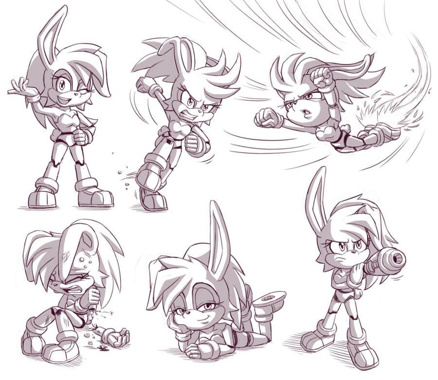 Bunnie D'Coolette sketches by glitcher