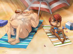 Sunbathing Beauty and the Beast