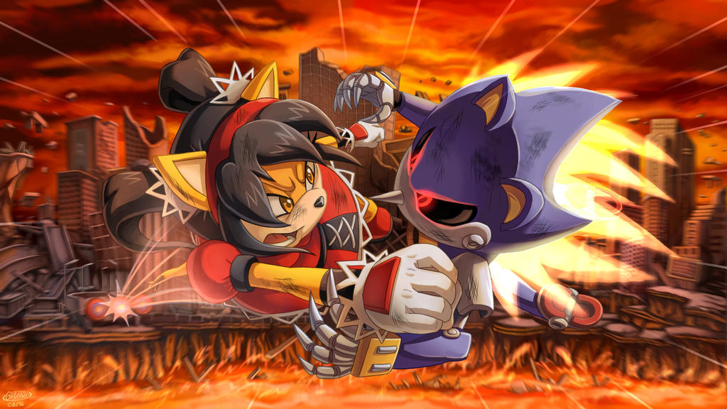 Cool Wallpaper Of Metal Sonic And Honey The Cat Sonicthehedgehog