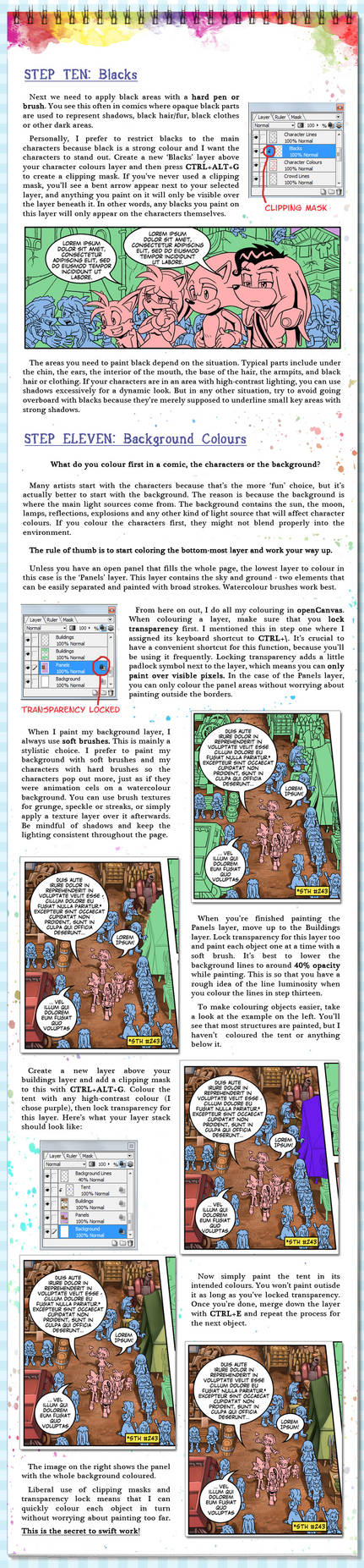Comic Page Tutorial - Steps 10-11