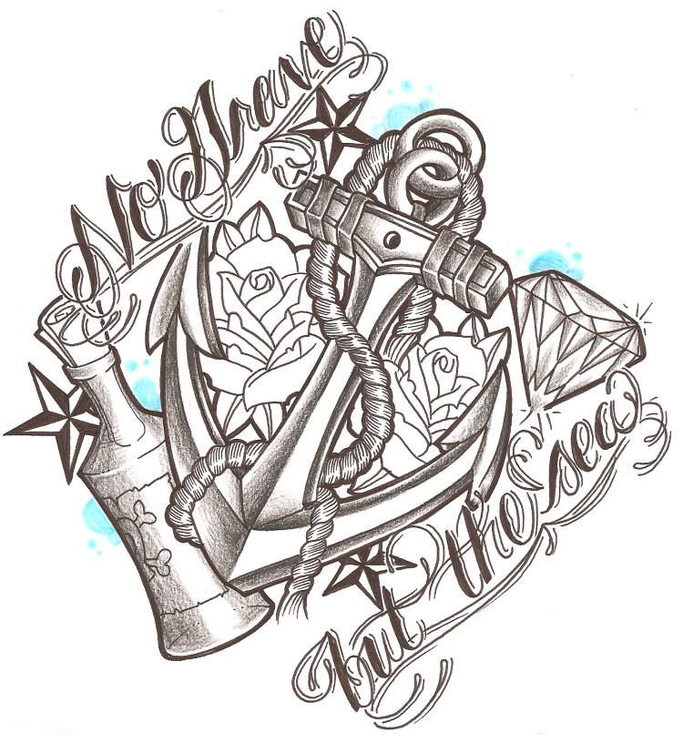 No grave but the sea by likeohlikeh on deviantart for Drawing tattoos on paper