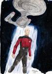 Captain Picard Watercolours December 2016